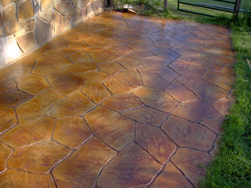 Color On Stamped Concrete